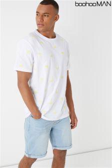 Boohoo Man Embroidered T-Shirt