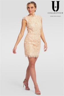 Forever Unique Cap Sleeve Lace Mini Dress