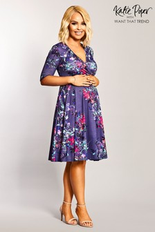 Want That Trend Maternity Wrap Skater Dress