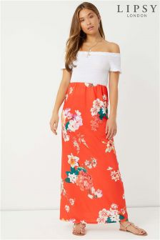 Lipsy Printed Tube Maxi Skirt
