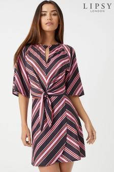 Lipsy Leopard Print Knot Front Dress