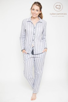 Cyberjammies Stripe Print Pyjama Set