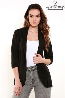 Want That Trend Jersey Blazer