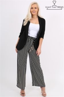 Want That Trend Striped Wide Leg Trousers