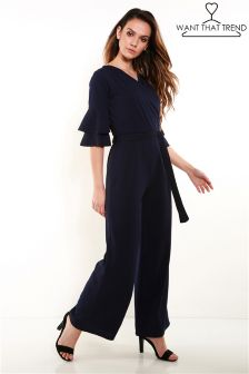 Want That Trend Ruffle Jumpsuit