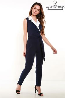 Want That Trend Tuxedo Jumpsuit