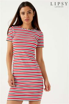 Lipsy Stripe Rib Mini Dress