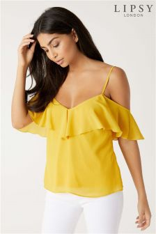 Lipsy Ruffle Cold Shoulder Cami Top