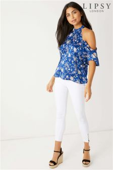 Lipsy Ditsy Floral Cold Shoulder Top