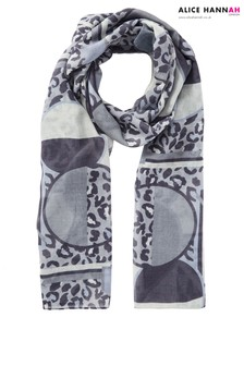 Alice Hannah Animal Print Scarf
