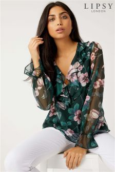 Lipsy Floral Ruffle Top