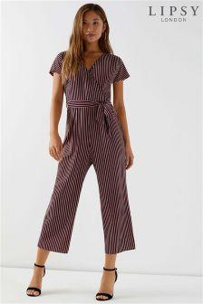 Lipsy Stripe Culotte Jumpsuit
