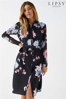 Lipsy Floral Midi Shirt Dress
