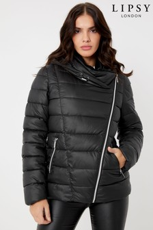 Lipsy Essential Faux Fur Lined Hood Short Padded Coat