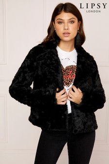 Lipsy Essential Faux Fur Coat