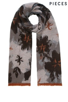Pieces Flower Print Scarf