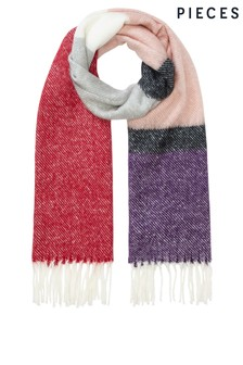 Pieces Colour Block Scarf