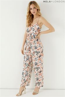 Mela London Floral Printed Wide Leg Jumpsuit