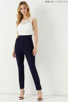 Mela London Lace Contrast Jumpsuit