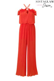Sistaglam Loves Jessica Pleated Jumpsuit