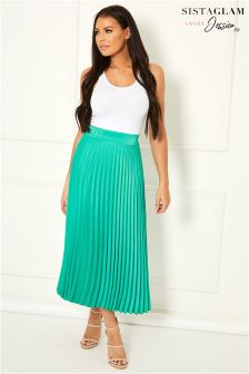 Sistaglam Loves Jessica Pleated Midi Skirt
