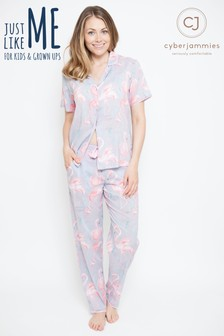 Cyberjammies Flamingo Print Pyjama Set