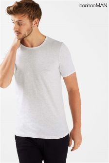 Boohoo Man Curve Hem T-Shirt
