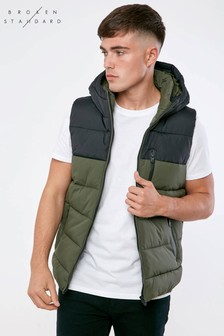 Broken Standard Padded Colour Block Gilet