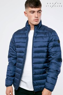 Broken Standard Stand Collar Quilted Jacket