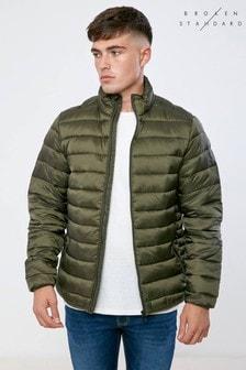 Broken Standard Stand Collar Quilted Jacket