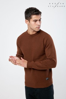 Broken Standard Pullover mit gerolltem Ausschnitt