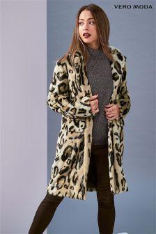 Vero Moda Leopard 3/4 Faux Fur Jacket