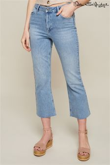 Miss Selfridge Crop Flare Jeans
