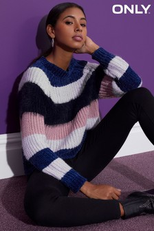 Only Long Sleeve Striped Pullover