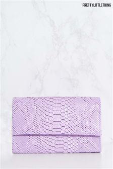 PrettyLittleThing Croc Chain Strap Clutch Bag