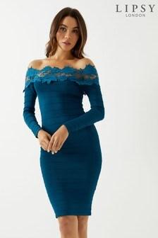 e3794ecde086 Women's Dresses Lipsy Blue Bardot/Off Shoulder Bardotoffshoulder ...