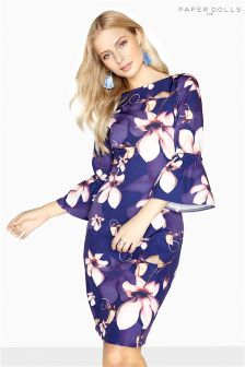 Paper Dolls Floral Print Bodycon Dress