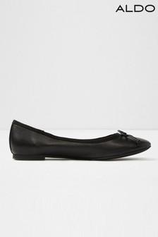 Aldo Bow Leather Ballerinas