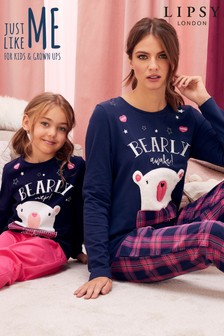 Lipsy Bearly Awake Pyjama Set