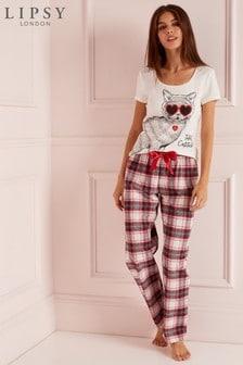 Lipsy Catitude Pyjama Set