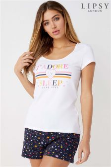 Lipsy J'Adore Pyjamas Short Set