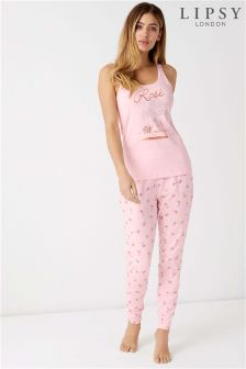 Lipsy Rose All Day Long Pyjama Set