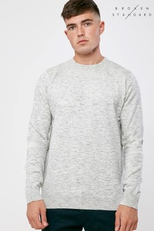 Broken Standard Grey Marl Jumper