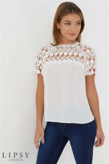 Lipsy Daisy Lace Shell Top
