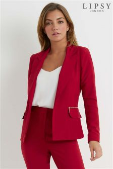 Lipsy Tailored Zip Pocket Blazer