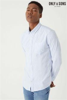 Оксфордская рубашка с длинными рукавами Only & Sons