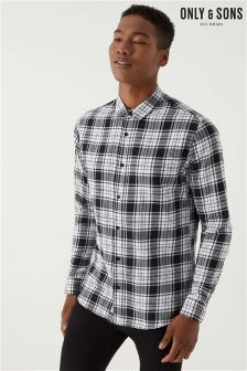 Only & Sons Long Sleeve Unbrushed Check Shirt