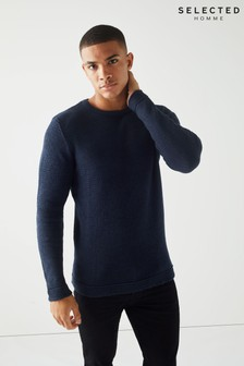 Selected Homme Textured Knitted Jumper