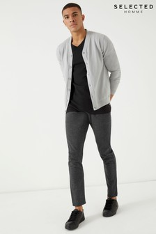Selected Homme Tonal Check Slim Fit Smart Trousers