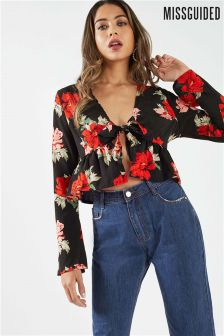Missguided Floral Blouse